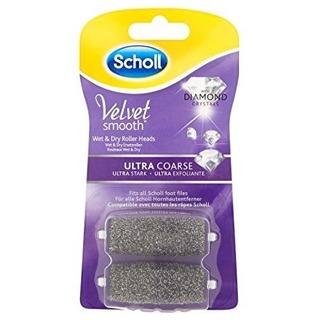 Scholl Velvet Smooth Ultra Coarse - náhradní extra drsné hlavice s diamantovými krystalky (2ks)