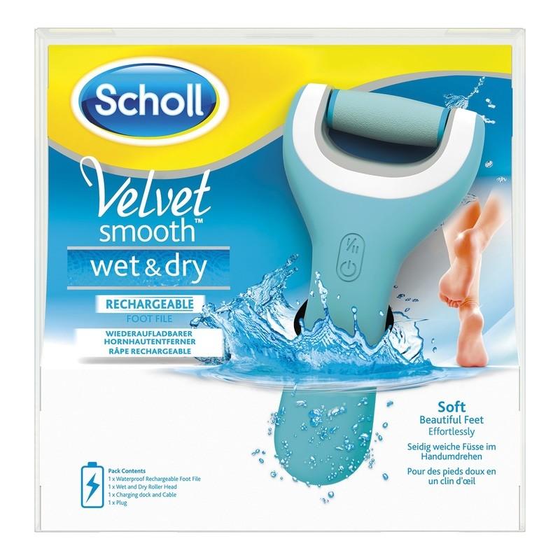Scholl Velvet Smooth Wet&Dry - elektrický pilník na chodidla do vody