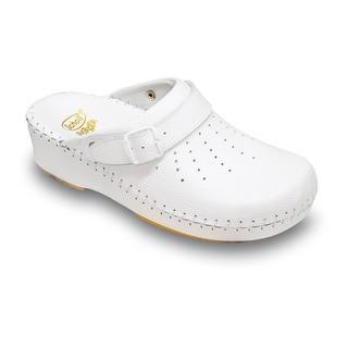 Scholl CLOG ADAPTA - bílé zdravotní pantofle