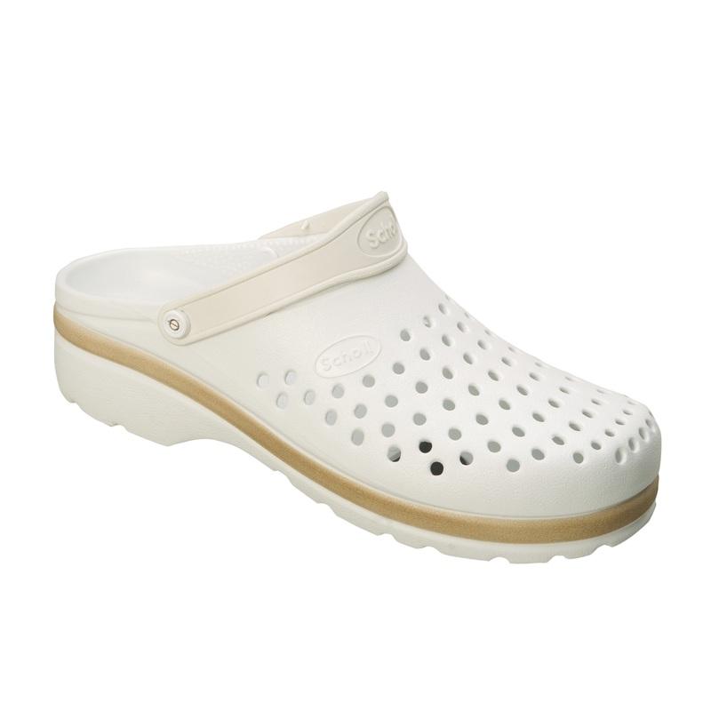 3440057652fa Scholl LIGHT COMFORT bílé pracovní pantofle