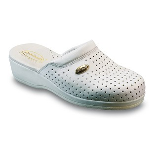 cac6a079d876 Scholl CLOG BACK GUARD - bílé zdravotní pantofle