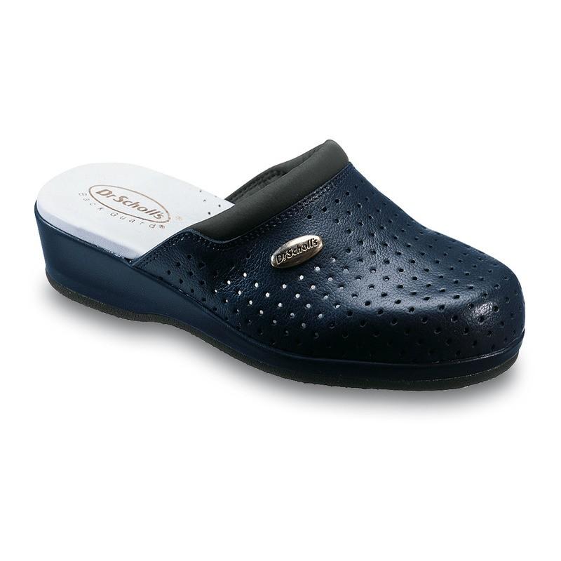 Scholl CLOG BACK GUARD - modré zdravotní pantofle