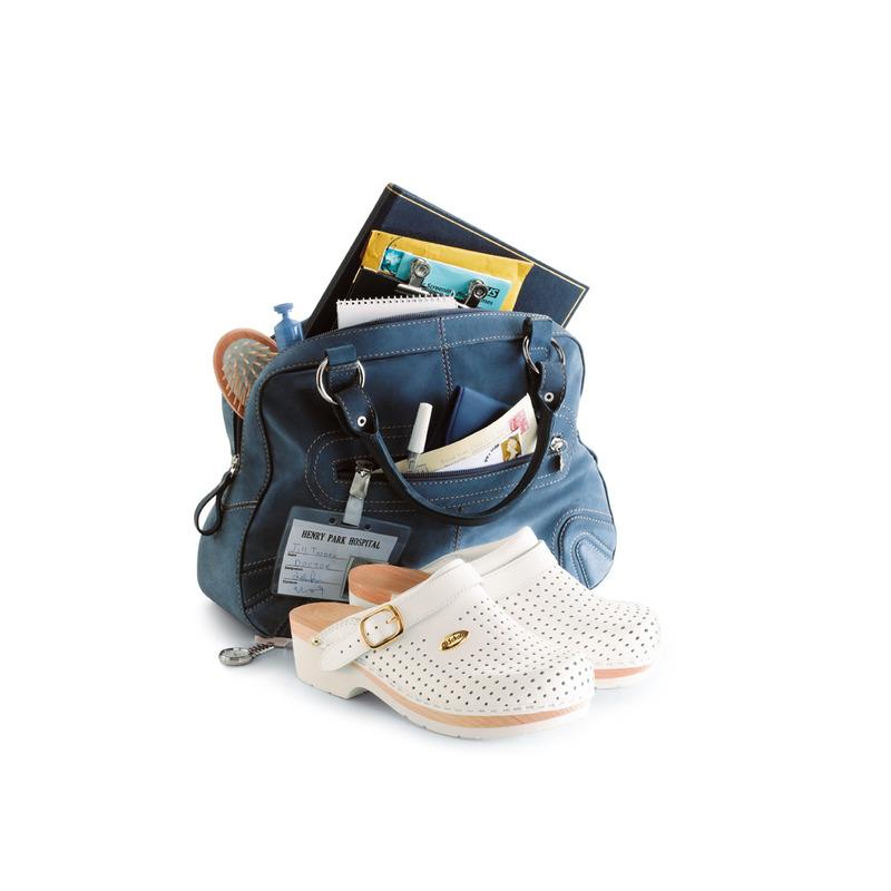 Scholl CLOG SUPERCOMFORT - bílá zdravotní obuv