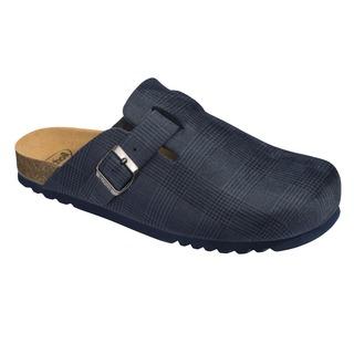 Scholl AMIATA MAN - tmavě modrá domácí zdravotní obuv