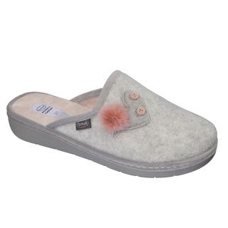 Scholl LAUREN HEART světle šedá - domácí zdravotní obuv