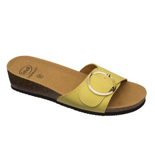 Scholl AMALFI MULE - žluté zdravotní pantofle