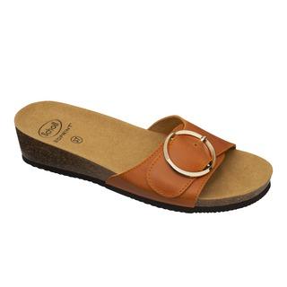 Scholl AMALFI MULE - oranžové zdravotní pantofle