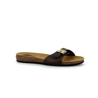 Scholl BAHAMAIS - tmavě hnědé zdravotní pantofle