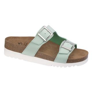 Scholl FILIPPA - zelené zdravotní pantofle