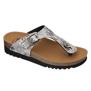 Scholl GREENY FLIP-FLOP 2.0 - stříbrné zdravotní pantofle
