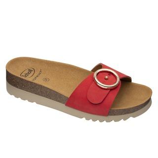 Scholl MALIBU' MULE - červené zdravotní pantofle