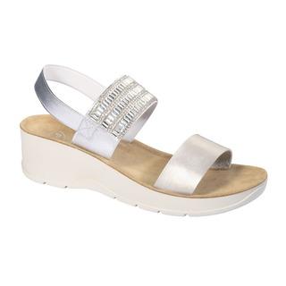 Scholl CRISTINA stříbrné zdravotní sandály