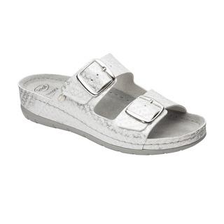 Scholl ABERDEEN bílé - dámské zdravotní pantofle