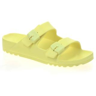 Scholl SHO BAHIA - světle žluté zdravotní pantofle