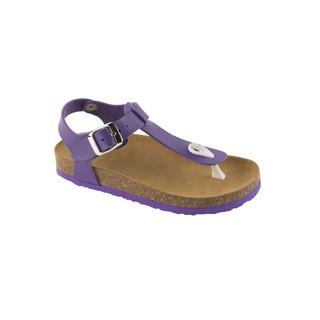 Scholl BOA VISTA KID purpurové - dětské zdravotní pantofle s páskem