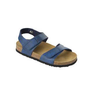 Scholl DINDER KID tmavě modré - dětské zdravotní pantofle s páskem