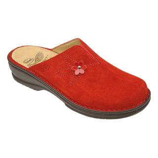 Scholl EDITH domácí červená pantofle