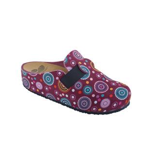 Scholl LARETH purpurová / multi purpurová domácí obuv
