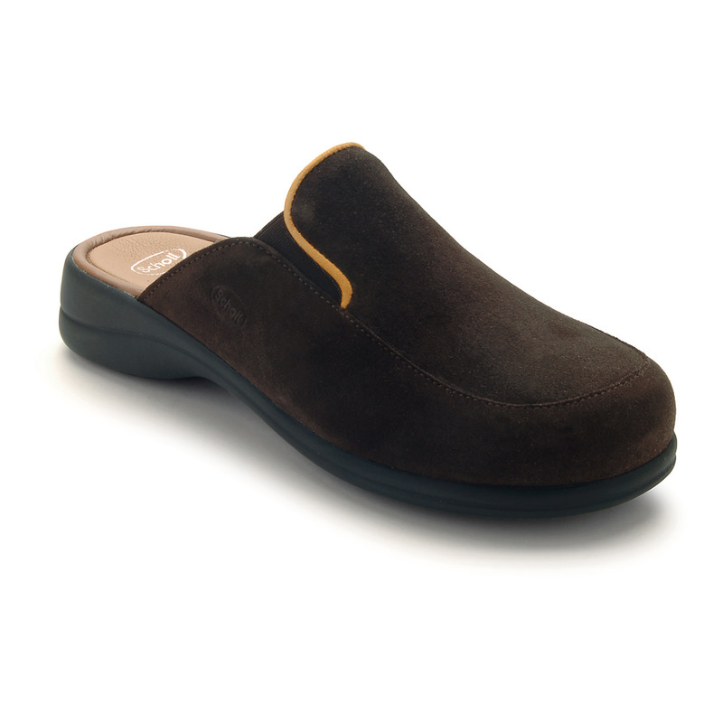 Scholl MOUE tmavě hnědá - domácí zdravotní obuv