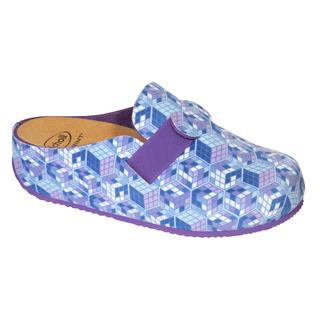 Scholl LARETH modrá domácí obuv (model 2019)