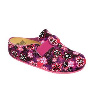 Scholl LARETH vícebarevná purpurová - domácí zdravotní obuv
