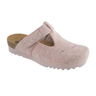Scholl FOTINIA švětle růžová domácí obuv