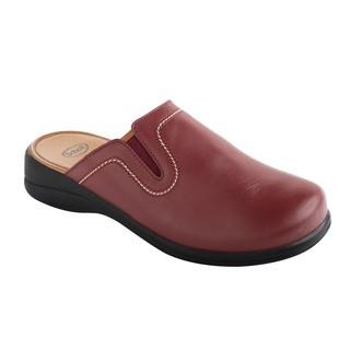 Scholl NEW TOFFEE tmavě červená - domácí zdravotní obuv