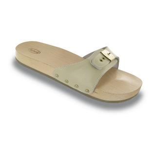 Scholl PESCURA FLAT pískové - zdravotní pantofle
