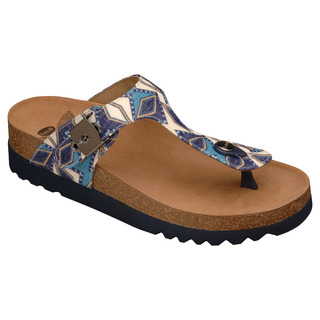 Scholl BOA VISTA INCA modré multi - zdravotní pantofle