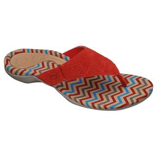 Scholl BREVA červené - zdravotní pantofle