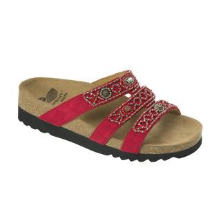 Scholl KIEL ADAPTA červené zdravotní pantofle