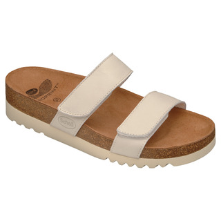 Scholl LUSAKA bílé - zdravotní pantofle