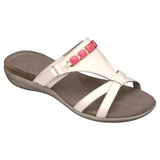 Scholl LYNN bílé / růžové - zdravotní pantofle
