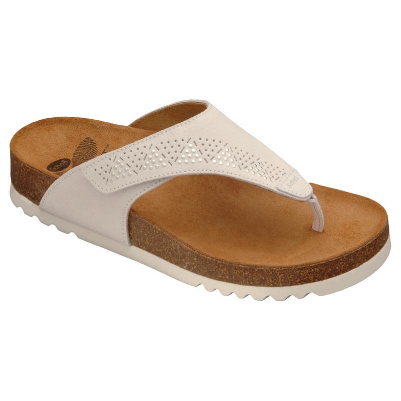 Scholl MASABE bílé - zdravotní pantofle