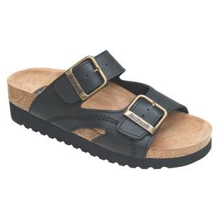 Scholl MOLDAVA WEDGE - černé zdravotní pantofle
