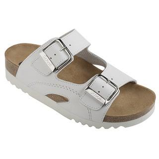 Scholl MOLDAVA WEDGE - bílé zdravotní pantofle