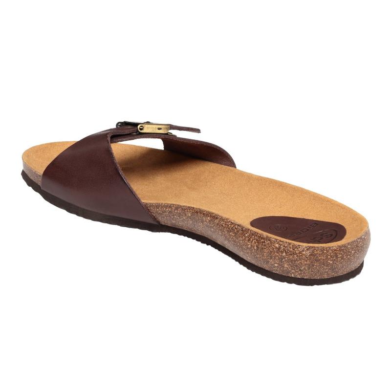 Scholl BAHAMA 2.0 - tmavě hnědé zdravotní pantofle