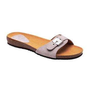 Scholl BAHAMA 2.0 - světle šedé zdravotní pantofle