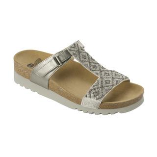 Scholl ASTRELLE stříbrné zdravotní pantofle
