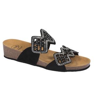 Scholl CAMILLA - černé zdravotní pantofle