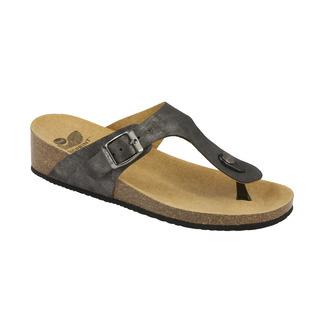 Scholl GANDIA cínová šeď zdravotní pantofle (2018)
