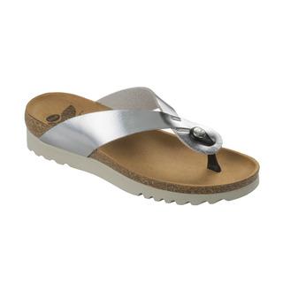 Scholl KENNA stříbrné zdravotní pantofle