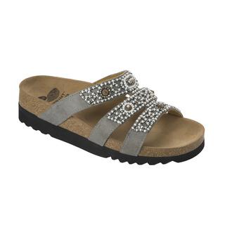 Scholl KIEL ADAPTA šedé zdravotní pantofle