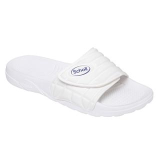Scholl NAUTILUS - bílé zdravotní pantofle