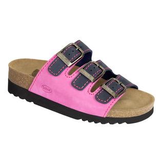 Scholl RIO tmavě modré / růžové zdravotní pantofle