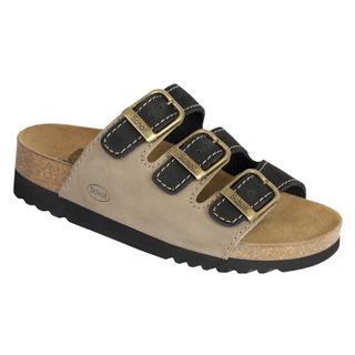 Scholl RIO černé / šedé zdravotní pantofle