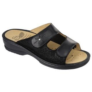 Scholl VITALBA černé - dámské zdravotní pantofle