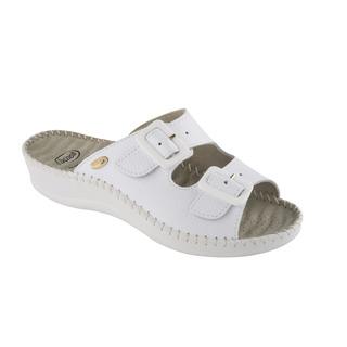 Scholl WEEKEND - bílé zdravotní pantofle