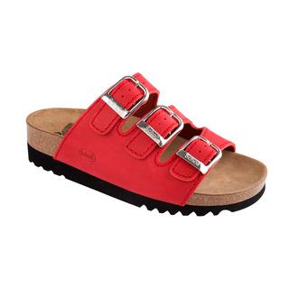 Scholl RIO červené zdravotní pantofle