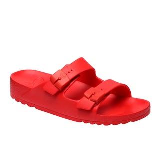 Scholl BAHIA - červené zdravotní pantofle